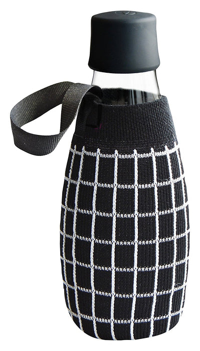 Retap Square Pattern 05 Bottle Sleeve, Fabric, Black/White