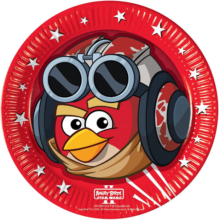 23cm Angry Birds Star Wars Party Plates, Pack of 8
