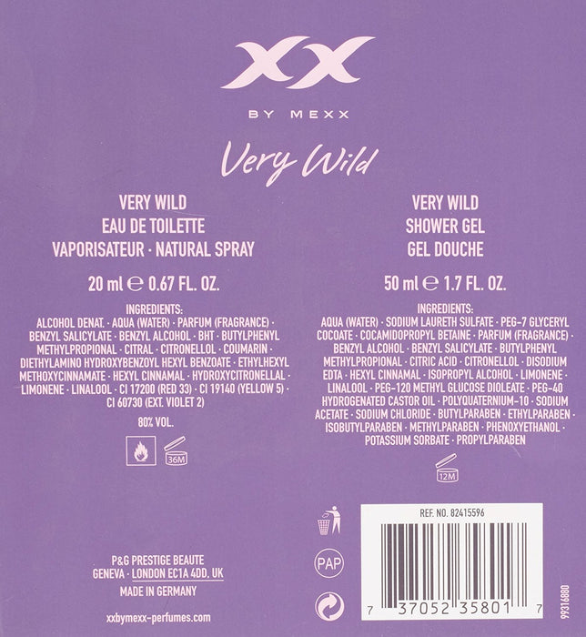 Mexx XX VERY WILD EDT Spray 20 ml and Shower Gel 50 ml