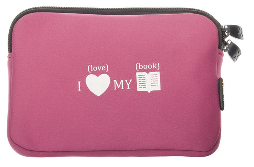 "SXP Colors Case for Tablet PCs and E-Book Readers up to 7"" Inches / Pink with LoveBook Pattern / fits Archos 70d eReader / Bookeen Cybook Gen3, Cybook Orizon, Cybook Odyssey / Huawei MediaPad / Kobo eReader Touch and Wireless / Thalia Oyo + Oyo 2 II /"