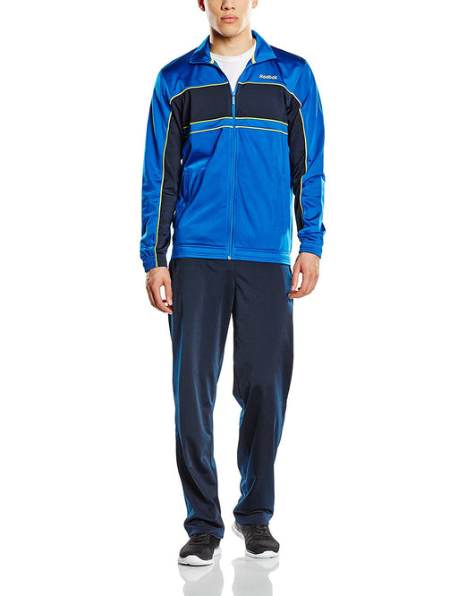 0936f14bfd59 Reebok Men  39 s TS Tricot 1 Tracksuit - Blue Marino White