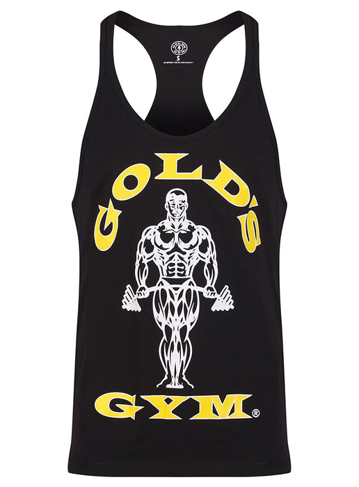 Gold's Gym Men's Muscle Joe Premium Stringer Vest - Black,X-Large