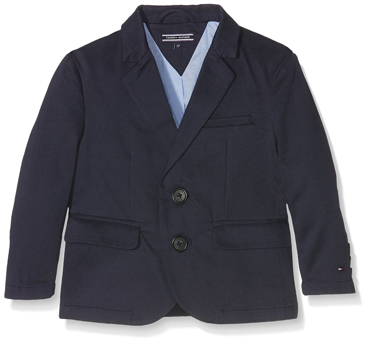 Tommy Hilfiger Baby Girls' Twill Blazer Cape, Blu (Midnight 403), 74 cm