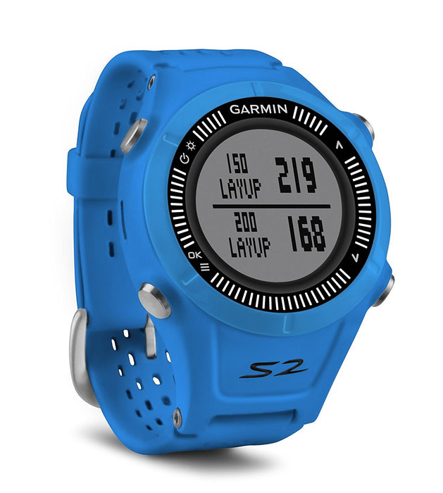 Garmin Approach S2 GPS Golf Watch - Blue/Black
