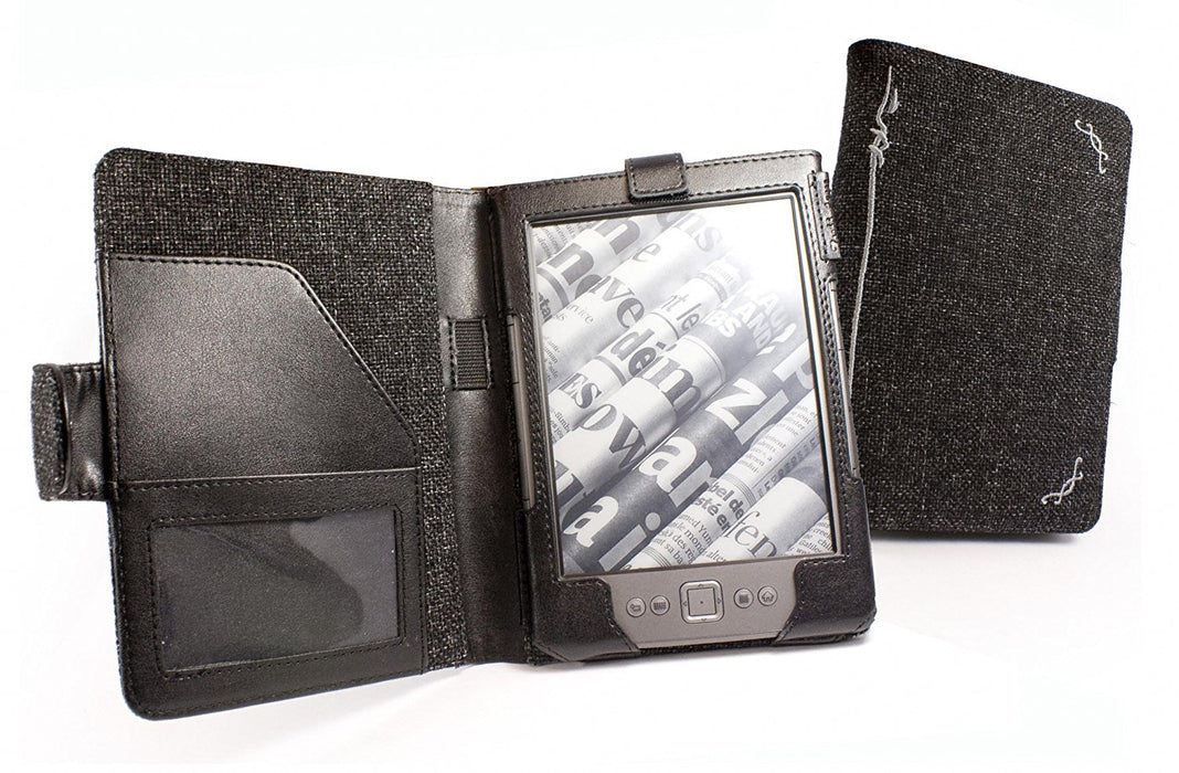Tuff-luv G1 Hemp Style Book Case for Kobo Touch