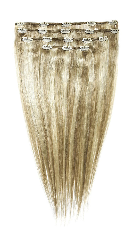 American Dream 4 Piece Full Head Set Clip In Extensions - Human Hair - 105g - Col 18/22 Ash Blonde / Beach Blonde