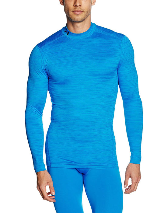Under Armour Men's UA Coldgear Armour Twist Mock Long-Sleeve Shirt - Brilliant Blue, X-Large