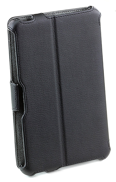 Pro-Tec Executive Leather Effect Folio Case Cover with Built-In Stand for Amazon Kindle Fire - Black