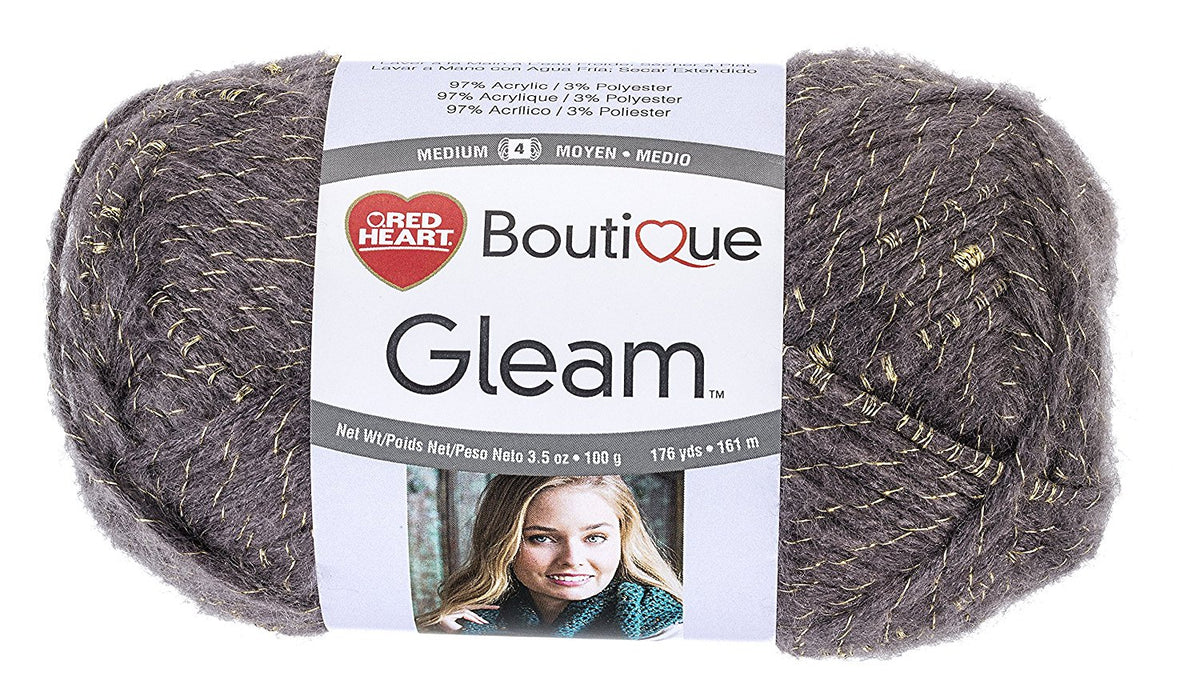 Coats Yarn Red Heart Boutique Gleam Yarn Smoke, Paper, Multicoloured, 3-Piece