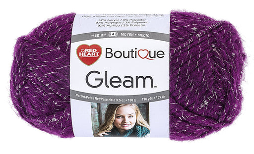 Coats Yarn Red Heart Boutique Gleam Yarn Berry, Paper, Multicoloured, 3-Piece