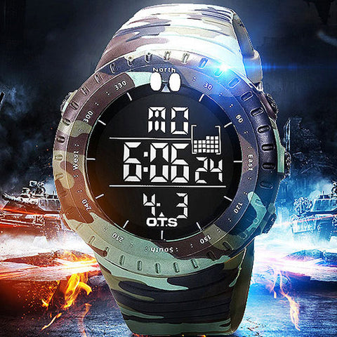 GLADIATOR CAMMO Military Rugged 50 Meter Water Resistant Full Function Outdoors Watch