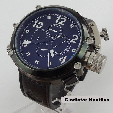 Gladiator Nautilus 50mm Black Dial  Mechanical Men's Watch