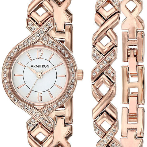 GLADIATOR JLO Women's Swarovski Crystal Accented Watch and Bracelet Set
