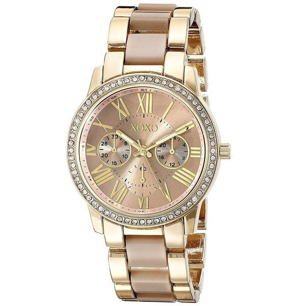 GLADIATOR XOXO Women's Elegant Yellow and Rose Gold Watch