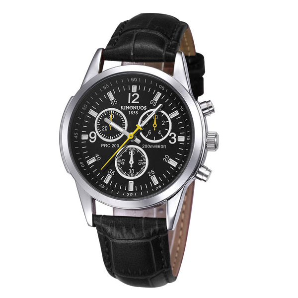 GLADIATOR KING Business Men's Watch With 3BAR Water & Shock Resistance