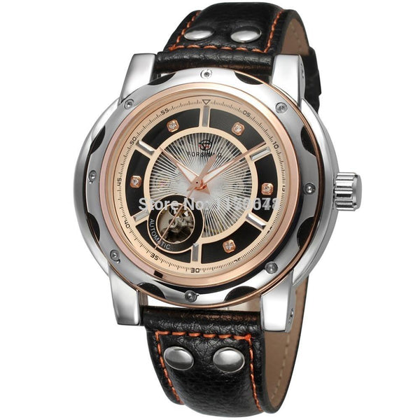 GLADIATOR HORIZON Men's Automatic Self-wind Rose Gold Bezel Watch