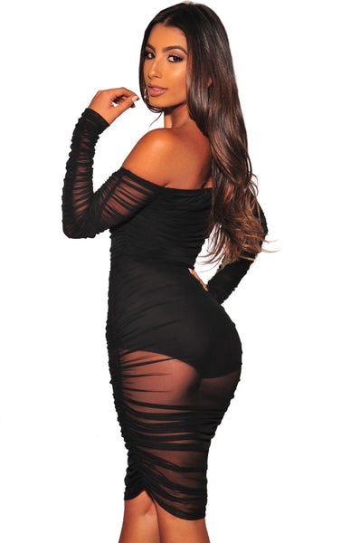 GLADIATOR Sexy Long Sleeve Off the Shoulder Dress