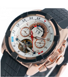 GLADIATOR COMMODUS Mens Mechanical Multifunction and Dial Watch with Rubber Strap
