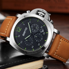 GLADIATOR AVANTE Quartz Chronograph Watch with Genuine Leather Strap and 3Bar Water Resistance And Full Calendar