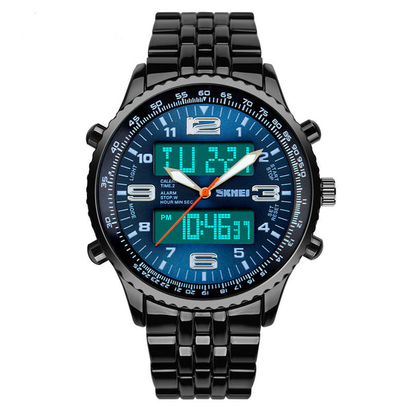 GLADIATOR NIGHTHAWK Analog/Digital Quartz Men's Aviator Military Watch with LED Digital Display