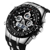 GLADIATOR SOLAR Men's Sports / Military Water Resistant Watch with Silicone LED Digital Display