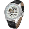 GLADIATOR SKELETOR Men's Skeleton-style Automatic Mechanical Leather Wristwatch