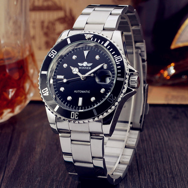 GLADIATOR SPARTACUS High Precision Automatic Self-Wind Stainless Steel Wristwatch with Date Display
