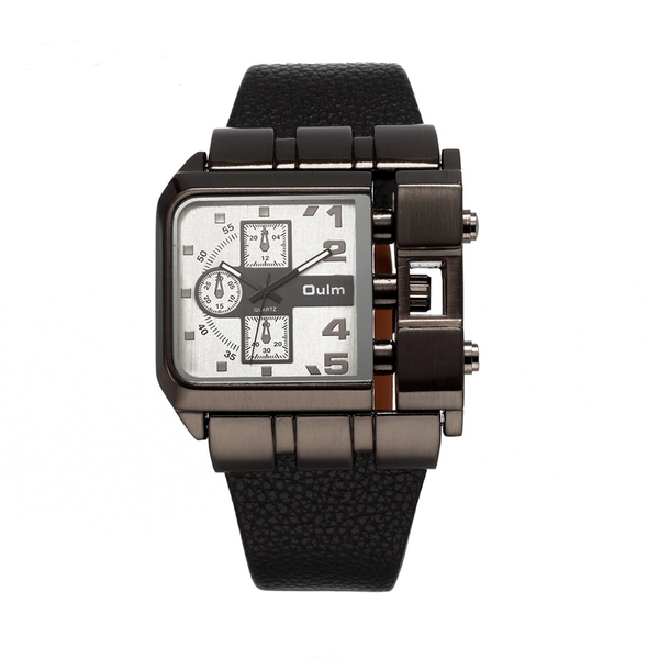 GLADIATOR AVENGER Sports Watch Multi-Time Zone With Oversized Square Case