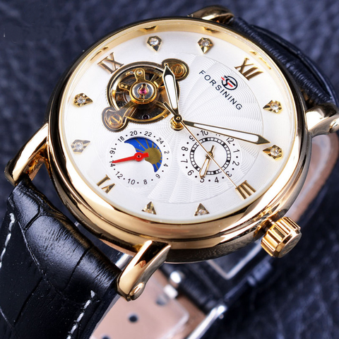 GLADIATOR NIGHT OWL 2 Beautifully Crafted Men's Mechanical Automatic Self-wind Luminous Wristwatch Rose Golden and Silver Cases