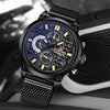 GLADIATOR HAWKEYE 3ATM Water Resistant Watch With Full Steel Wrist Band