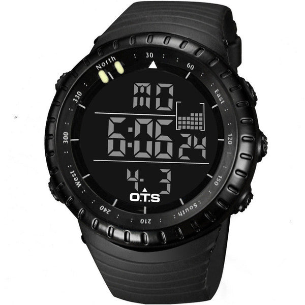 GLADIATOR REMUS Trendy Black Digital Men's Sports / Professional Wristwatch Waterproof Large LED Dial