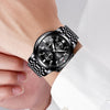 GLADIATOR DARK STAR Chronograph Mens Watch With Auto-Date And 3 Scales Dials