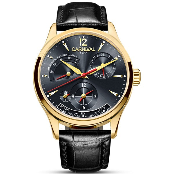 GLADIATOR KINETIC Multifunction Automatic Calendar Waterproof Luminous Mechanical Men Watch