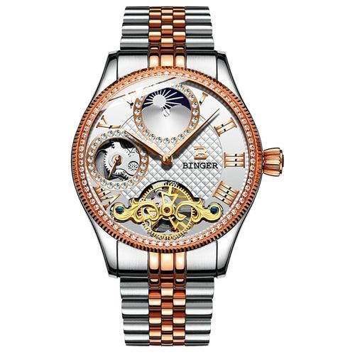 GLADIATOR ELISYUM Men Skeleton Waterproof Sapphire Crystal Watch