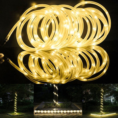Solar stringrope lights outdoor led andolinas unique landscape solar stringrope lights outdoor led mozeypictures Images