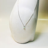 BE GEMMED SILVER NECKLACE - 27
