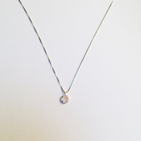 BE GEMMED SILVER  NECKLACE - N05