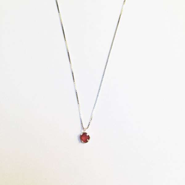 BE GEMMED SILVER  NECKLACE - N01