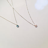 BE GEMMED SILVER  NECKLACE - N02