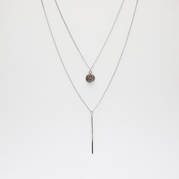 BE JEWELLED BAR + THE ROCKS LAYERED NECKLACE-45