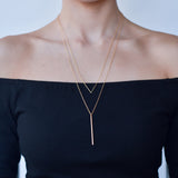 BE JEWELLED V LAYERED NECKLACE-43