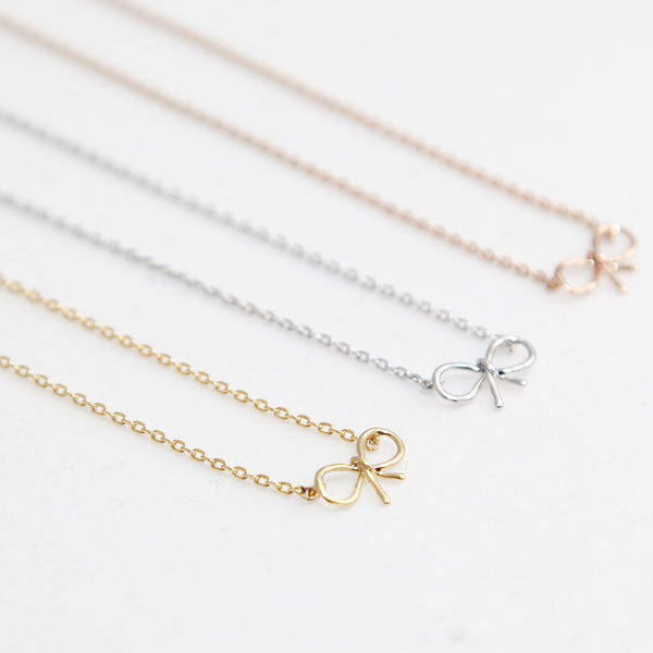 BE JEWELLED BOW NECKLACE-31