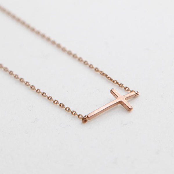 BE JEWELLED CROSS NECKLACE-30