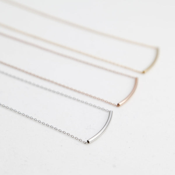 BE JEWELLED CURVE NECKLACE-21