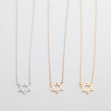 BE JEWELLED HEXAGRAM NECKLACE-26