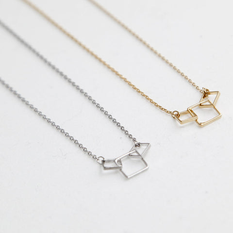 BE JEWELLED SQUARES NECKLACE-35
