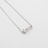 BE JEWELLED THIN LOVE NECKLACE-13
