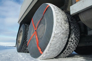 AutoSock for trucks AL mounted on rear wheels