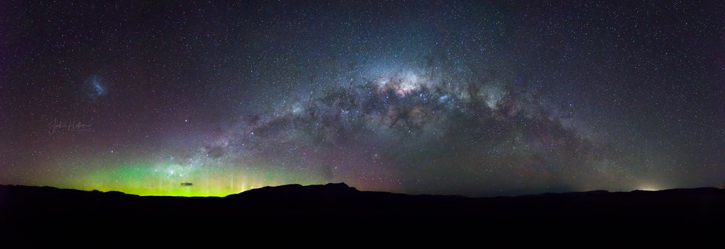 Aurora Milky Way Panorama Great Western Tiers 24 August 2017