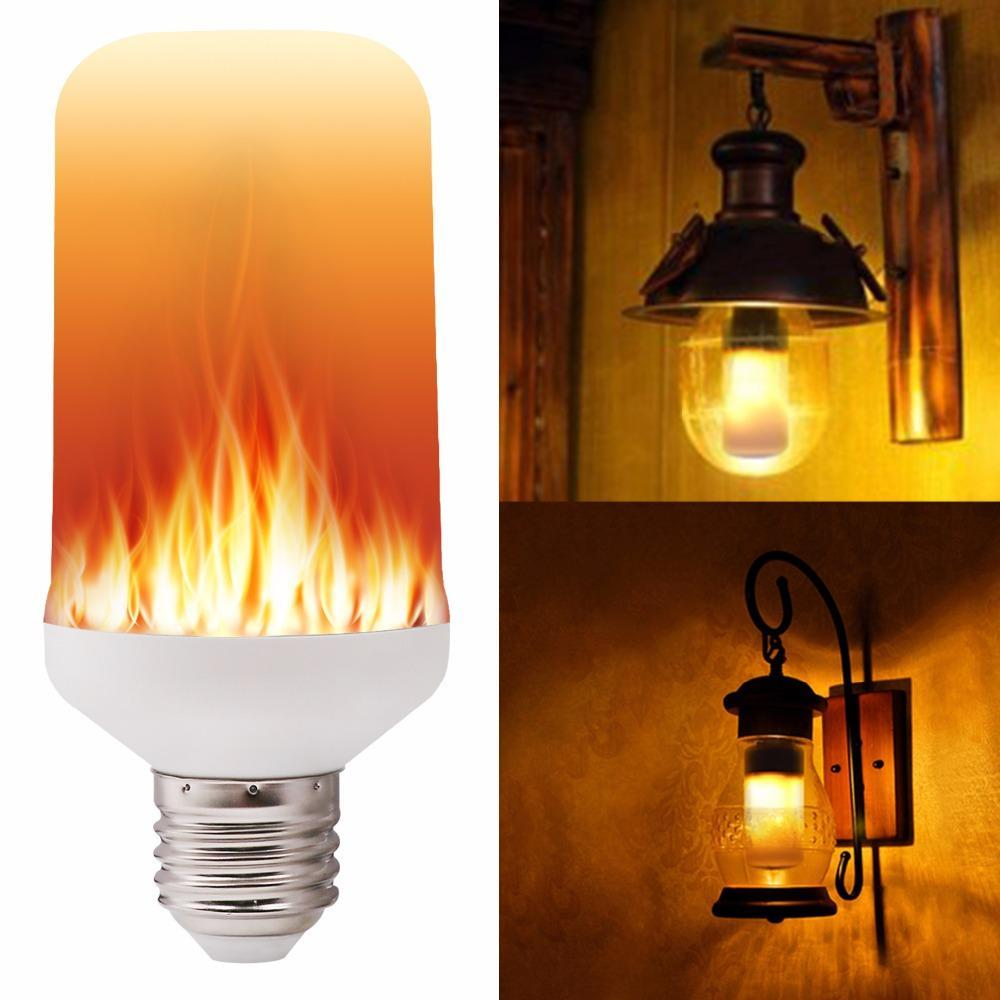 AllVirals LED Flame Effect Fire Vinttage Light Bulbs